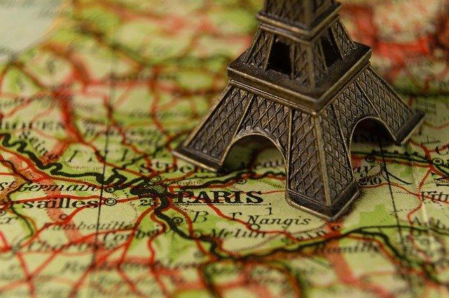 eiffelovka na mapě