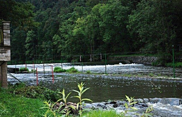 řeka, splav